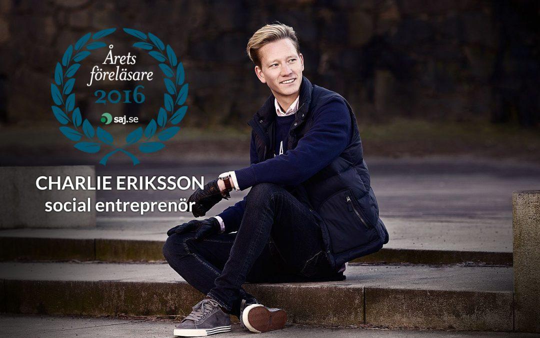 Charlie Eriksson tillgänglig som föreläsare igen!