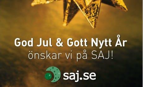 God Jul och Gott Nytt år önskar SAJ.