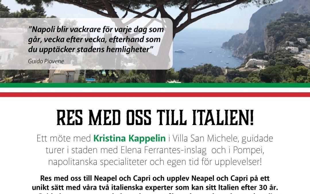 Res med oss till Italien och möt Kristina Kappelin!