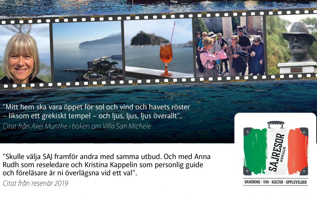 Upplev Capri 4 – 8 juni 2020 – med våra italienska experter Kristina och Anna